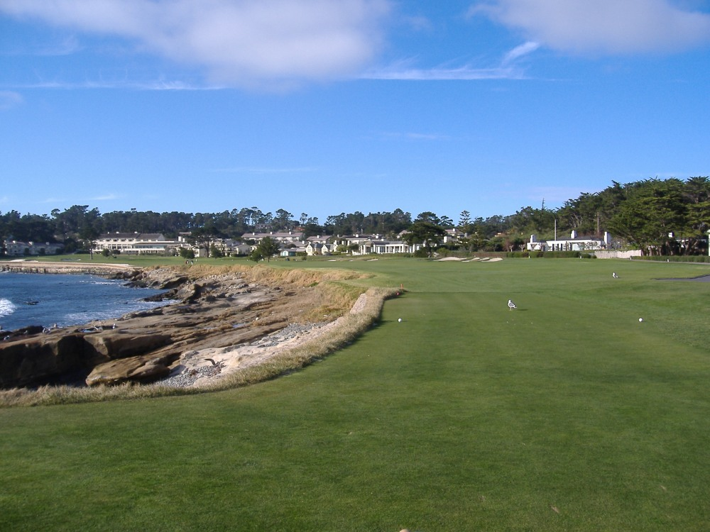 18th Hole @ Pebble Beach (Dad & I played twice)