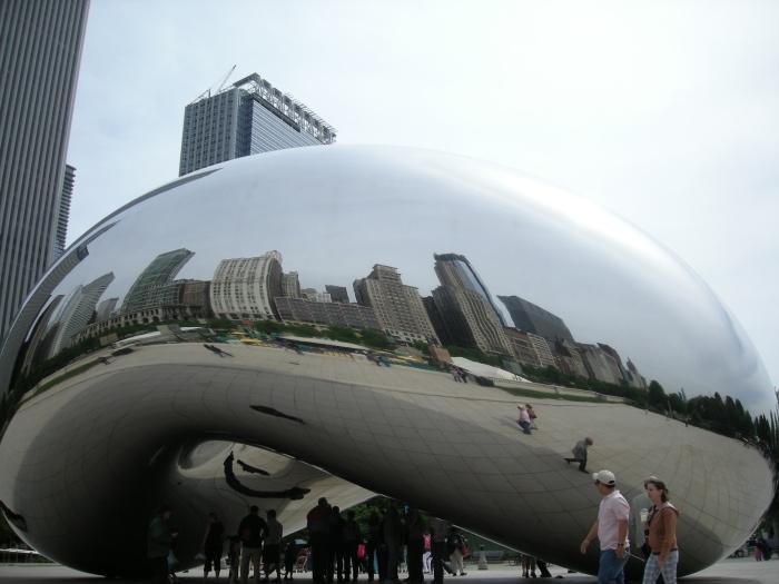 The Bean Art project in Chicago Millenium Park