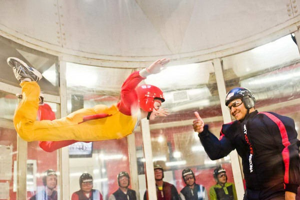 Tay indoor skydiving in Eloy AZ