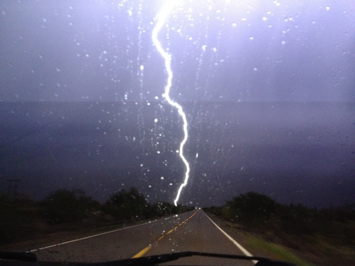 Highway 79 driving in Thunderstorm