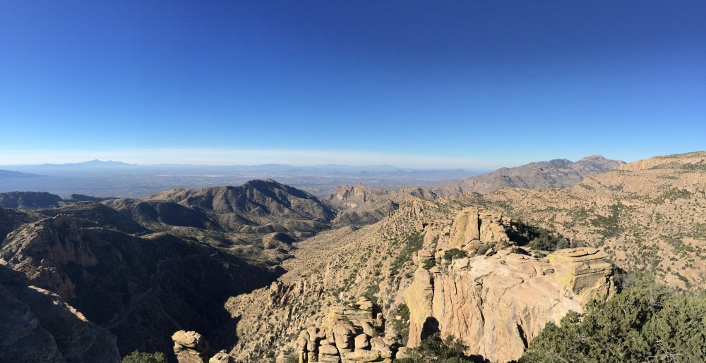 Mt Lemmon overlooking Tucson