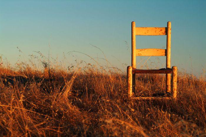 chair in field